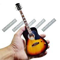 Mini Guitar scale 1:4 BEATLES john lennon ej45 miniature gadget rock collectible