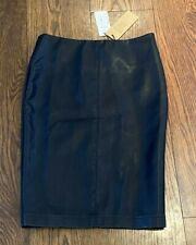COTTON ON FAUX LEATHER WOMENS PENCIL SKIRT SIZE SMALL - NEW