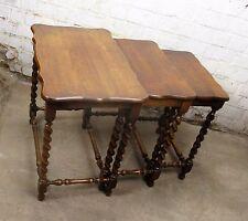 Antique Vintage Barley Twist Nesting Side Tables set of 3 Gorgeous