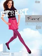 Pink & Black Optical Illusion Lycra Fiore Tights Pantyhose Collant Psychedelic