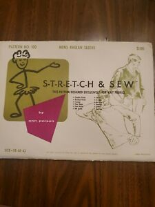 Stretch & Sew 100 by Ann Person Men's Raglan Sleeve Shirt Pattern - Sz 38/40/42