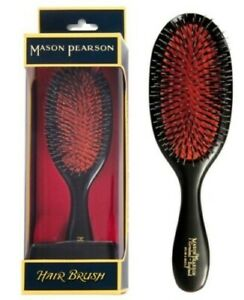 Mason Pearson Handy Pure Bristle & Nylon BN3 - Dark Ruby Hair Brush Handy Size