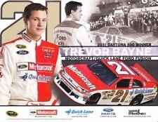 2012 Trevor Bayne Motorcraft Ford Fusion NASCAR postcard