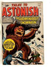 Tales To Astonish # 24 FN- Atlas Pre Marvel Silver Age Comic Book Snowman JL18