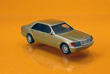 Herpa 038775 Mercedes Benz S Klasse V12 W140 champagnermetallic Scale 1 87 NEU
