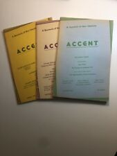Accent Quarterly New Literature 1942, 1945, 1958 1st Ed. Wright Gass D. Thomas