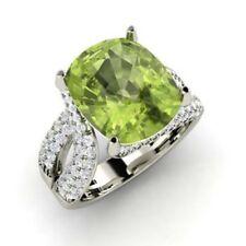 5.00 Ct Natural Diamond Peridot Ring 14K White Gold Gemstone Ring Size 5 6 7 8