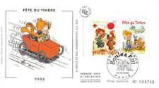 FDC soie - Fête du timbre. Boule et Bill (P3467A) - 16/03/2002 Paris