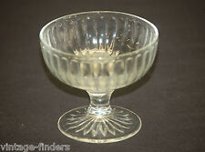 Old Vintage Ribbed Clear Glass Ice Cream / Sherbet Dessert Cup Dish