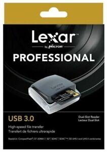 Lexar Professional USB 3.0 Dual-Slot Memory Reader for  CF ( SDHC/SDXC UDMA7 -UK
