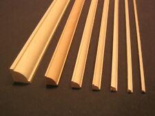 "Quarter Bead Molding 1/4"" x 1/4"" x 23""   dollhouse basswood trim  3pcs"