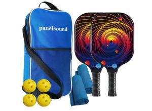 Pickleball Paddles Set of 2, Lightweight Pickleball Paddle Set