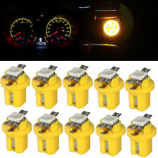 10X T5 B8.5D 5050 1SMD LED Dashboard Dash Gauge Instrument Light Bulbs Yellow