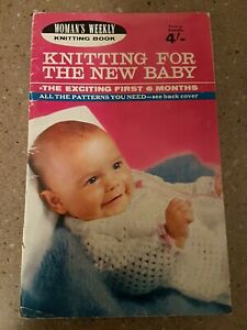 VINTAGE womans weekly Knitting BOOK for the new baby. For the first 6 months.