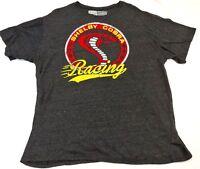 CARROLL SHELBY 2XL Shelby Racing short sleeve t-shirt, gray with cobra  (A)