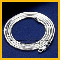 """925 STERLING SILVER FILLED 3MM WIDE SNAKE CHAIN NECKLACE MEN GIFT 16""""-24"""" INCHES"""