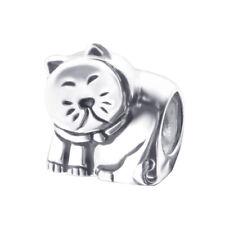 Plata esterlina 925 sólido gato del Grano europeo encanto granos encantos