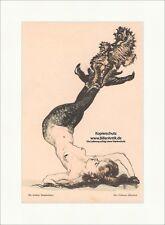 Die frechen Seepferdchen Max Feldbauer Meerjungfrau Akt Nymphe Jugend 1734