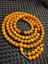 Baltic Amber stone butterscotch Yellow 108 Beads Bracelet Rounds 6mm