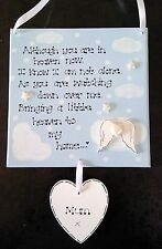 Personalised Relative Loss Bereavement Heaven In Our Home Angel Poem Plaque