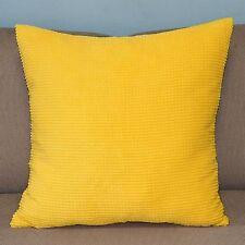 "Corn Corduroy Decor Sofa Decor Yellow Pillow Case Cushion Cover Square 17"" PT164"