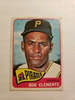 1965 TOPPS #160 ROBERTO CLEMENTE HOF PITTSBURGH PIRATES LOW GRADE - NO CREASES