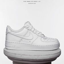 Nike WMNS Air Force 1 '07 Low Women Shoes Sneakers New All White 315115-112