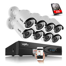 Sannce 1080P Hd Ip Network Camera 8Ch Nvr PoE Outdoor Home Security System 4Tb