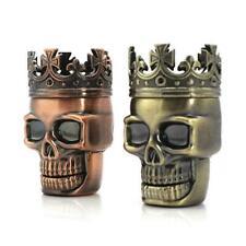 Tobacco Herb Spice Grinder King Skeleton Skull Crusher Punk Creative Tool B E3C3