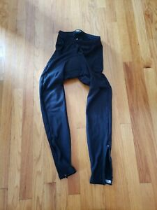 Pearl Izumi Mens Black Padded Cycling Pants Ankle Zip Logo MED EUC Compression