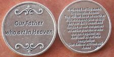 Lord's Prayer Holy Coin Token + Our Father, Who Art in Heaven +