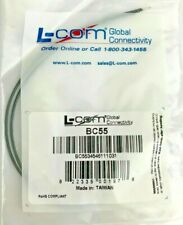 "L-Com BC55 BNC Coaxial Female Test Lab Interconnect 6"" Cable Durable Tin Tips"
