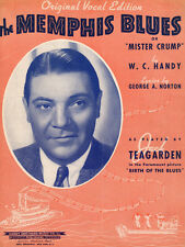 MEMPHIS BLUES Music Sheet-1940-W. C. HANDY-BIRTH OF THE BLUES-JACK TEAGARDEN-TN