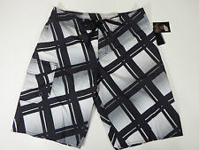 Men's Blue Gear Size 32 Board Shorts Black and White