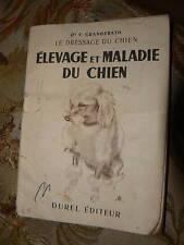ancien livre elevage et maladie du chien granderath
