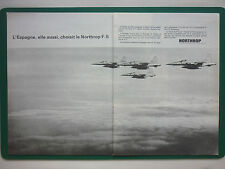 4/1965 PUB NORTHROP F-5 USAF TACTICAL FIGHTER SPANISH AIR FORCE FRENCH AD