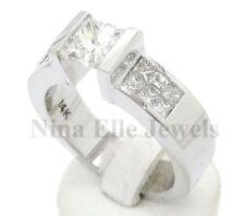 1.85CT PRINCESS CUT TENSION SET DIAMOND ENGAGEMENT RING