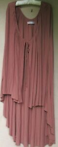Free People Beach Viscose/ Linen Knit High/Low Cape Cover up   Medium
