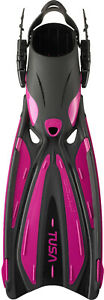 Tusa Solla SF22 Fin Open Heel All Sizes for Scuba Snorkeling Rose Pink