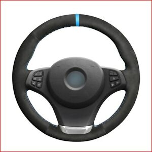Black Suede Steering Wheel Cover for BMW E83 X3 2007 2008 2009 2010 E53 X5 G450