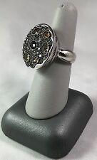 Signed SKJ 925 TH Color Stone Dome Ring Beautiful