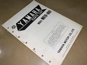 1976 Yamaha Moto-Bike Type A B C Vintage Factory Parts List/Manual_OEM