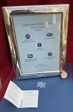 More details for solid sterling silver large plain photo frame 22cm high carrs incl box excellent