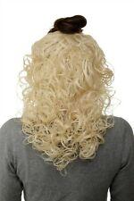 Hair Piece half Wig Clip-In Hair Extension Curls Platinum Blonde 40cm H9312-613