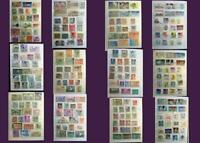 Stamp Collection From Spain Portugal Italy & United States, Free World Shipping