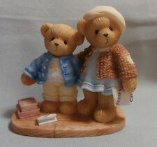 "CHERISHED TEDDIE  ""CLEMENT & JODIE "" 706744 MINT IN BOX BOY & GIRL REPORT CARD"