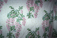 """Laura Ashley vintage Wisteria curtains pink 44""""d x 43"""" w"""