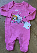 Mothercare Age 6-9 Months That's Not My Fairy Pink Baby Grow 🌟 BNWT 🌟