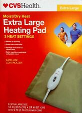 CVS Extra Large XL 3 Setting Moist Dry Heating Pad & Controller - Brand New!