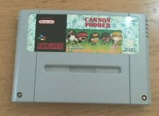 Cannon Fodder Super Nintendo SNES Cartridge PAL